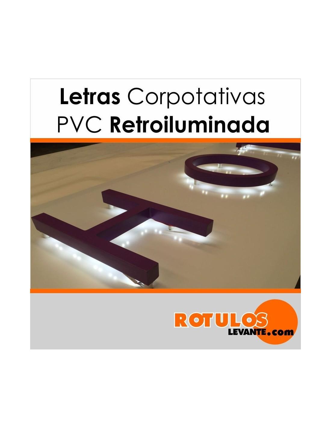 Letras Corpóreas de PVC Luminosas