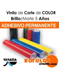 Material rotulación Vinilo brillo color