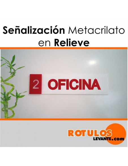 Señalización metacrilato en relieve