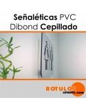 Señalética PVC frontal dibond
