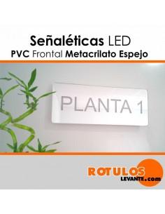 Señaléticas iluminación LED