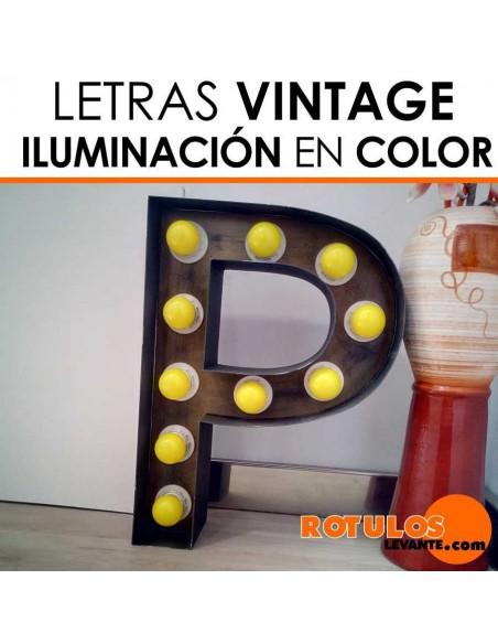 Letras luminosas vintage