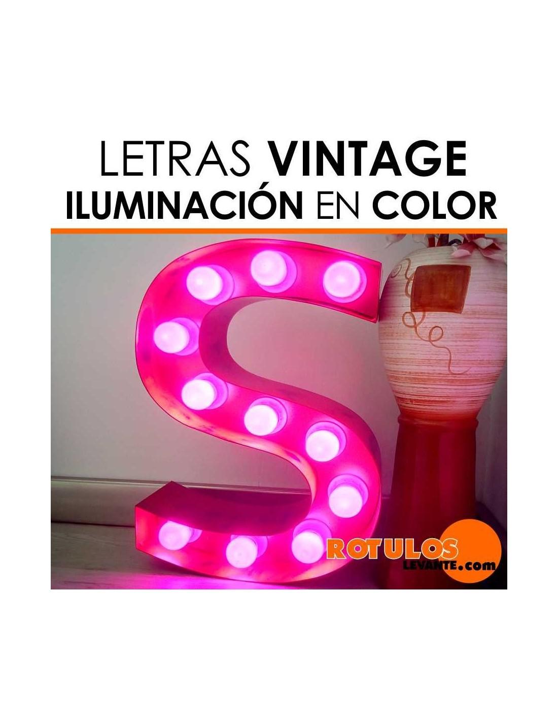 Letras vintage luminosas para boda y decoraci n - Letras luminosas decoracion ...