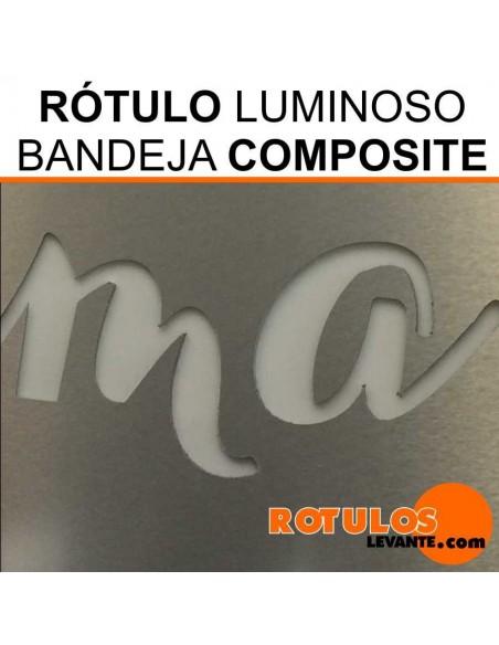 Rótulo luminoso de composite