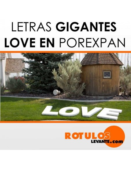Letras gigantes love decoración