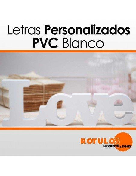 Nombres personalizados pvc
