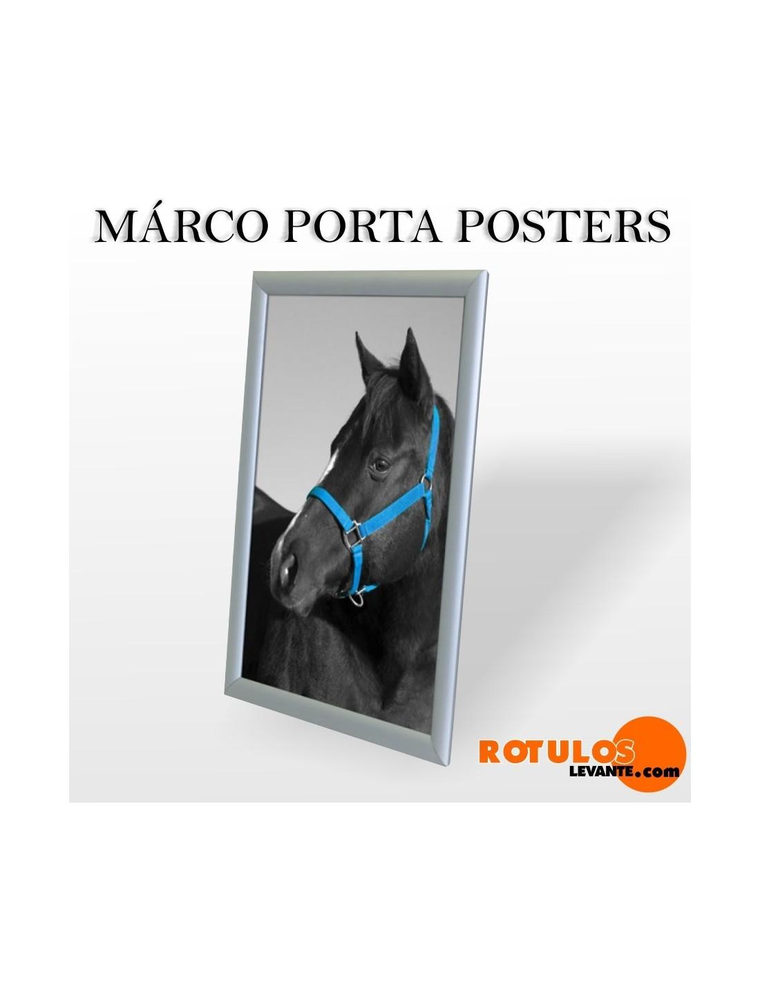 Marco porta póster aluminio publicitario