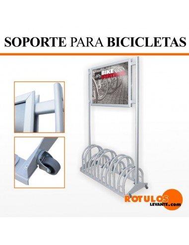 Soporte para bicicletas con expositor
