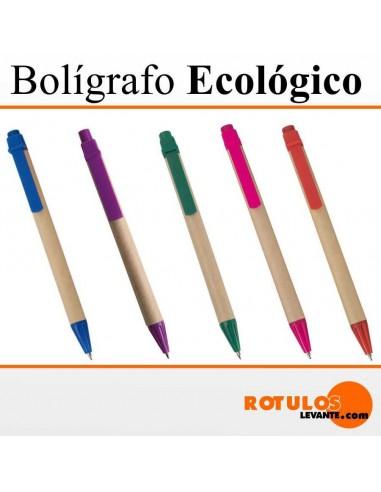 Bolígrafo personalizado cartón reciclado
