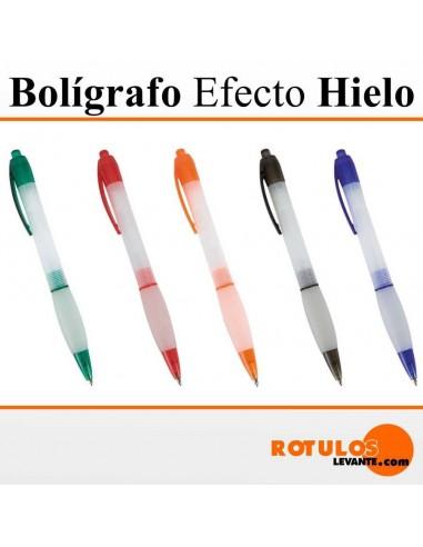 Bolígrafo personalizado efecto hielo