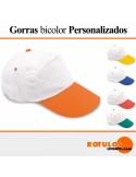 Gorra personalizada bicolor