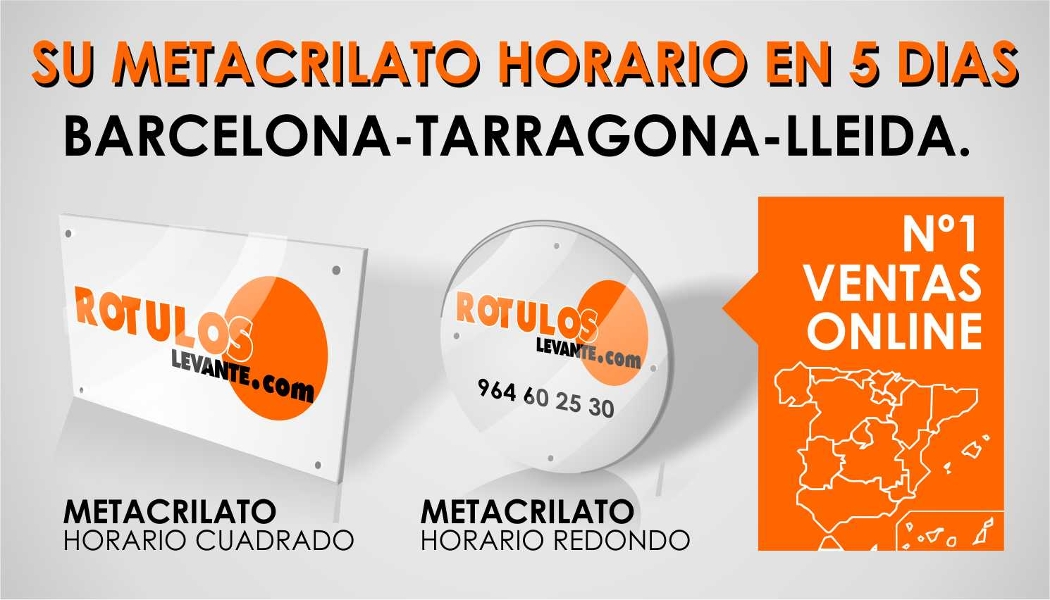 Placas metacrilato en Barcelona