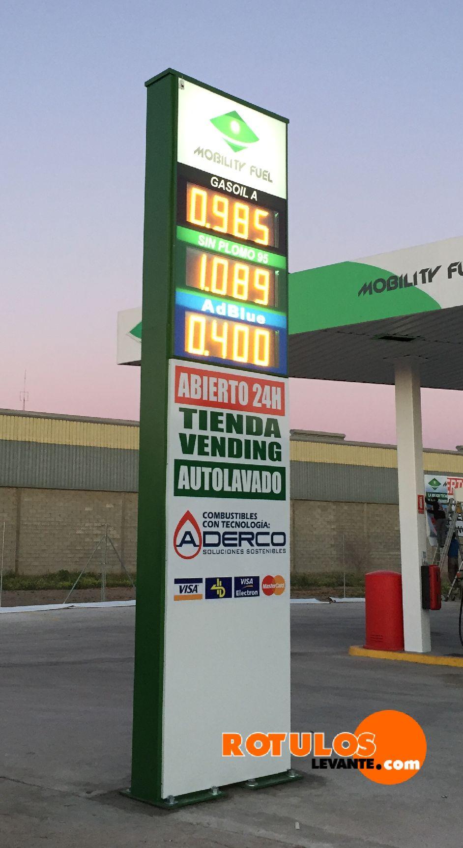 preciario gasolinera