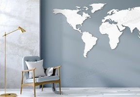MAPAS DECORATIVOS EN RELIEVE
