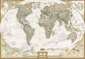 Vinilos pared mapas