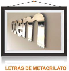 Letras corporeas Metacrilato