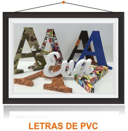 Letras corporeas PVC