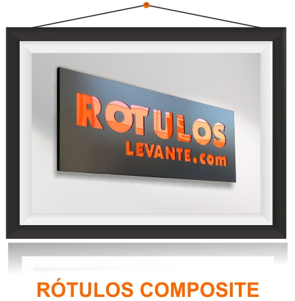 Rotulos led composite