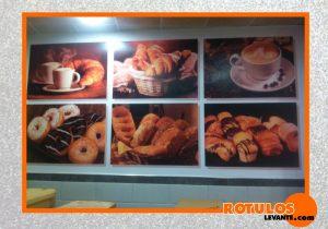 Placas rotuladas panadería