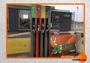 Rotulación gasolinera