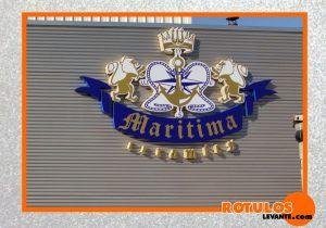 Logo aluminio gran formato