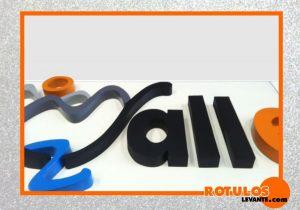 Logo letra lacado