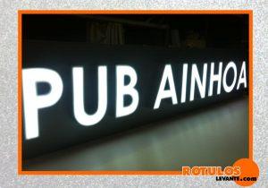 Letras de aluminio Pub Ainhoa