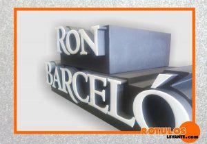 Letra aluminio iluminación frontal Ron Barceló
