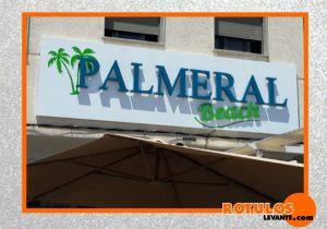 Letras aluminio restaurante Palmeral