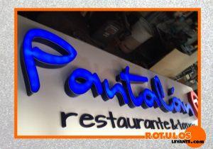 Letras aluminio restaurante Pantalán