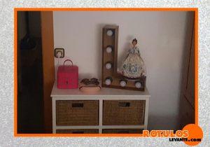 Letra vintage decoración habitación
