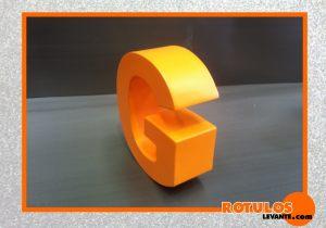 Letra aluminio lacado Naranja