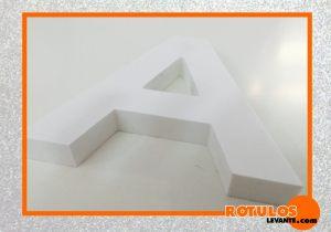 Letra PVC recta