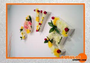 Letra decoración de boda