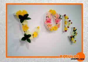 Letras pvc huecas para decorar