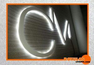 Letras pvc retro iluminada
