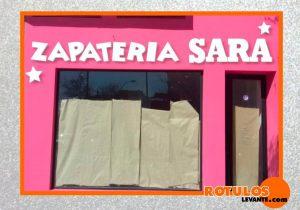 Letras pvc blanca Zapatería
