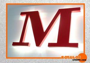 Letras PVC retro iluminadas