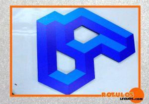 Logotipo PVC rotuladas efecto 3D