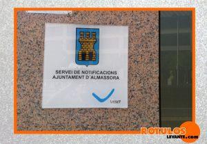 Placa de horario Ayuntamiento