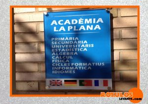 Placa de horario academia