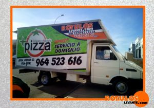 Rotulación camión de pizzería