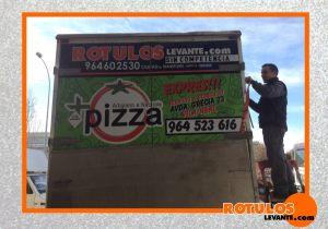 Rotulación de camión pizzería