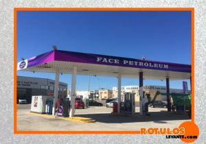 Rotulación gasolinera face petroleum