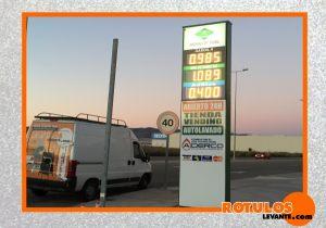 Rótulo totem gasolinera