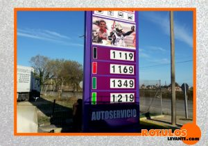 Totem para gasolinera