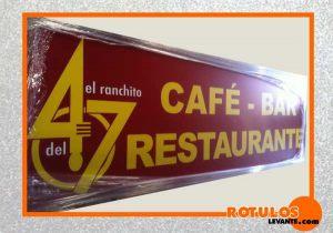 Rótulo Cafeteria
