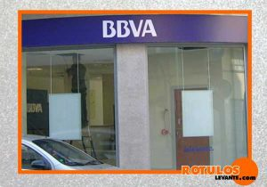 Rótulo luminoso led banco