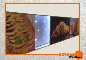 Rótulo panaderia luz