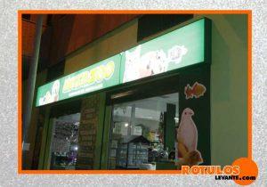 Rótulo tienda animal